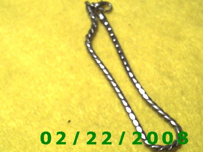 "9"" Silver 4mm round Bracelet (030)"