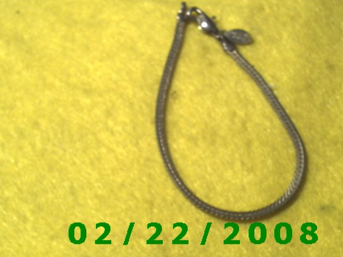 """7 1/2"""" Silver 3mm wide Bracelet (031)"""