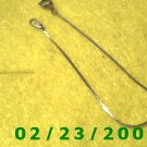 """7"""" 1mm wide Gold Plated Bracelet (036)"""