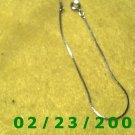 """7"""" 1mm wide Silver Bracelet (037)"""