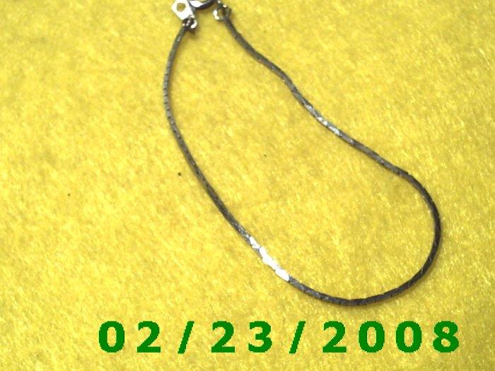 """7"""" 2mm wide Silver Bracelet (038)"""