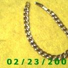 "7"" 7mm wide Gold Plated Bracelet Signed Avon (040)"