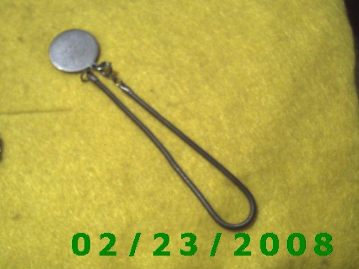 """7 1/2"""" 3mm round Silver Bracelet w/Mary Jane Tag (044)"""