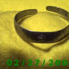 "Silver Bracelett 2 1/4"" Inside Diameter w/coat of arms (016)"