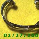 """Silver Bracelett 2 1/2"""" Inside Diameter (018)"""