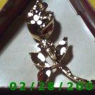 Gold Flower Brooche (002)