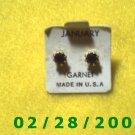 Earrings, Pierced  Birthstone January USA.
