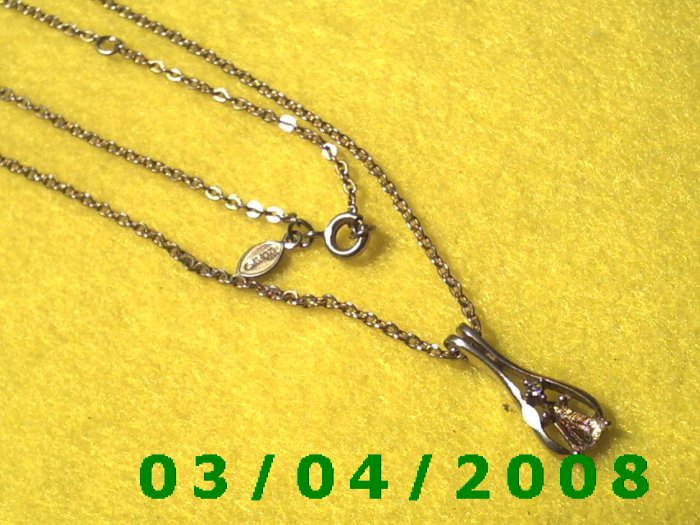 """20"""" Gold Plated Necklace w/pendant (Avon) (045)"""