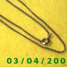 "18"" Silver Necklace (048)"