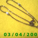 "18"" Gold Plated Necklace by Nolan Miller (059)"