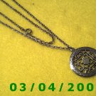 "24"" Silver Necklace w/Medallion (046)"