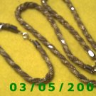 "19"" Twisted Gold Chain Necklace w/Matching 7"" Bracelet (034)"