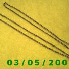 "24 1/2"" Silver Necklace (018)"