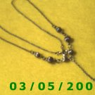"""15 1/2"""" Silver Necklace w/Beads (021)"""
