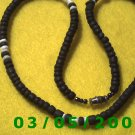 "18"" Black and White Beads, Necklace w/screw connector (029)"