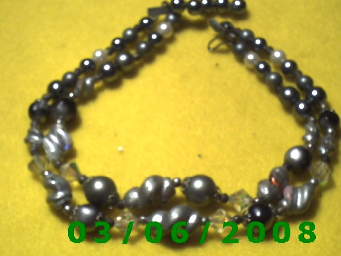 "15"" Double Strand Pearl Necklace (004)"