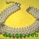 "16"" Pearl Necklace w/simulated diamonds (011)"