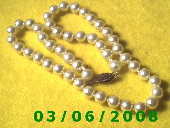 """17"""" Pearl Necklace (002)"""