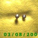 .925 Silver Earrings w/pearl setting (008)