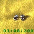 .925 Silver Earrings w/opal stone (009)