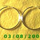 """Silver Hoop Earrings 1 1/2"""" (013)"""