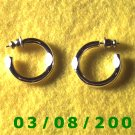 "Silver Hoop Earrings 3/4"" (014)"