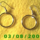 "Gold Plated Hoop Earrings 7/8"" (017)"