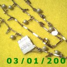 """Vintage 19"""" Gold Plated 50's Necklass w/pearls (015)"""