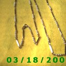 """36"""" 2mm Gold Necklace w/pearls (010)"""
