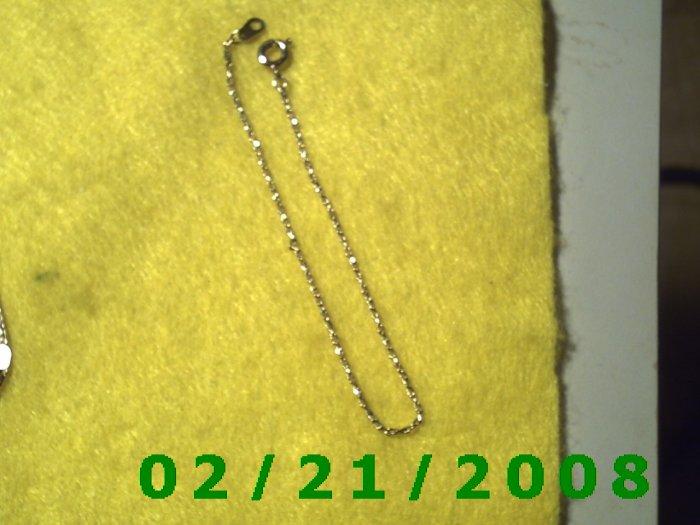 """Vintage  7"""" Gold Plated 50's Bracelet (004)"""