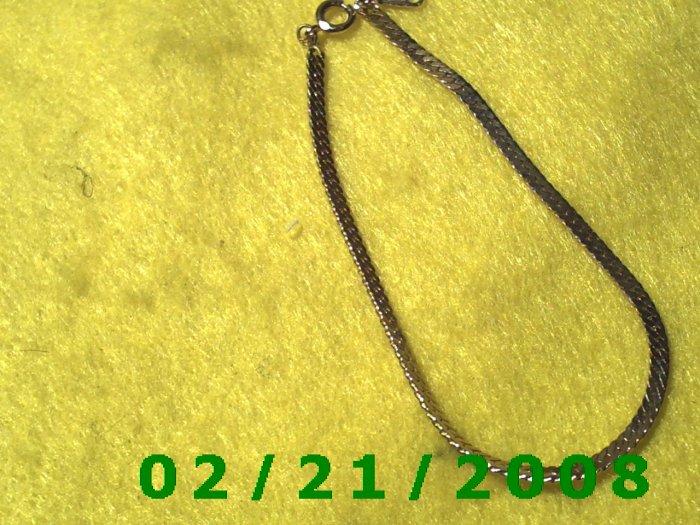 """Vintage 7 1/2"""" Gold Plated 50's Bracelet (008)"""