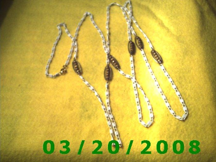 """55"""" 4mm White Necklace  (E-4008)"""