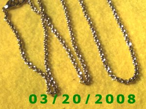 "30"" 3mm Gold Necklace (E-4001)"