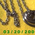 """30"""" 5mm Silver Necklace w/Hearts (E-4002"""