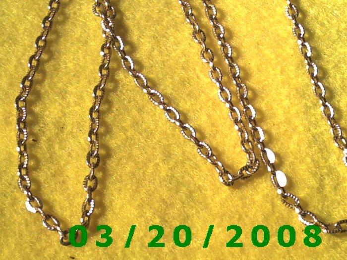 "31"" 3mm Gold Necklace  (E-4004)"