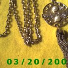 "36"" 5mm Gold Necklace w/Medallion n Tassle  (E-4007)"