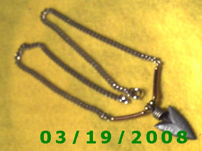 Silver Arrow Head Necklace  (E-3006)