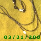 "18"" 2mm 3 Strand Gold Necklace  (E-4009)"