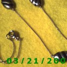 "28"" 1mm Gold Necklace w/Lead Beads  (E-4012)"