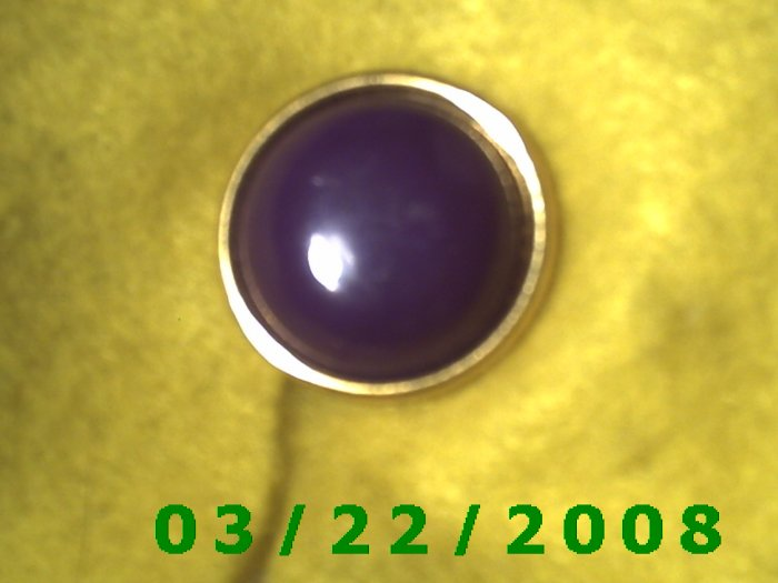 """15/16"""" Brass Button Cover Maroon  (R005)"""