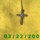 """9/16 x 7/8"""" Silver Cross  (R005)"""