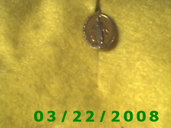 "1/2 x 3/4"" Gold Cathlic Medal  (R006) (007)"