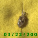 "3/8 x 15/16"" Gold w/clear stone pendant  (R010)"