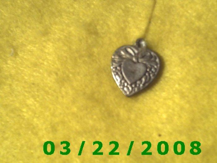 """3/4"""" Silver Heart Charm  (R014)"""