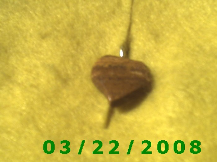 """3/4"""" Stone Heart Charm  (R015)"""