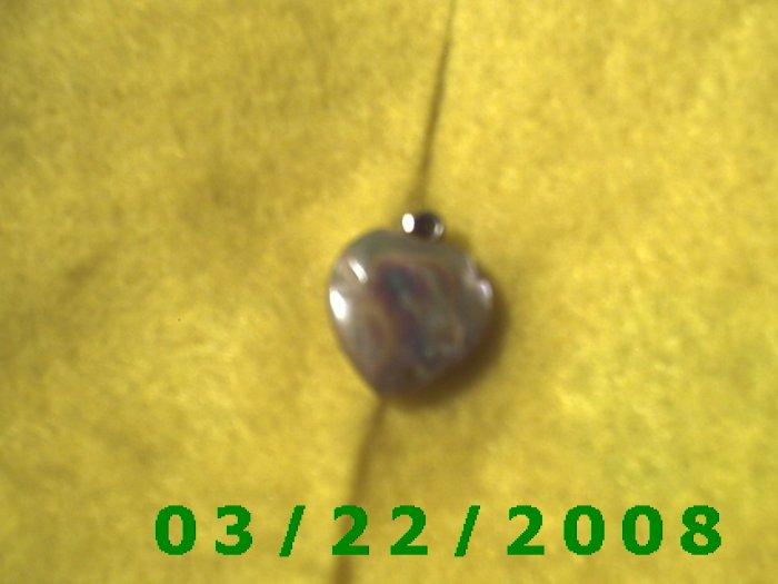 """1/2"""" Stone Heart Charm  (R017)"""