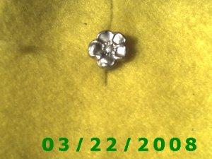 """1/2"""" Silver Flower Button  (R024)"""