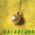"5/8"" Gold Charm w/Pearl  (R029)"
