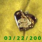 """3/4"""" Silver Unicorn Charm  (R036)"""