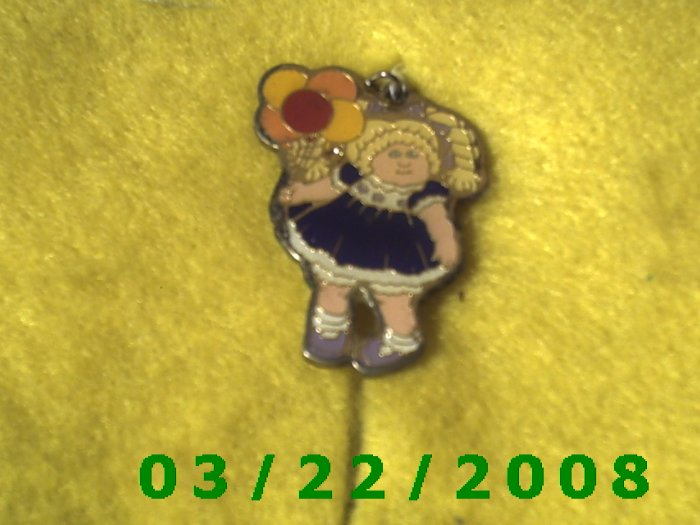 """1 1/4"""" Silver Charm (Little Blond Headed Girl w/Baloons  (R037)"""